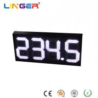 China 888.8 Led Gas Price Sign , White Color Digital Gas Station Price Signs For Single Side factory