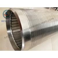 Buy cheap Continuous Slot Johnson Screens Groundwater And Wells Wleded Rings End Connection from Wholesalers