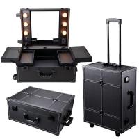 Quality Cosmetics Mini Studio Togo Makeup Case, Black / White wholesale