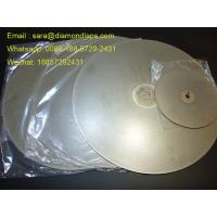 """China 8"""" Coated Diamond Flat Lap Disc with Grit 320 1mm thickness for glass working factory"""