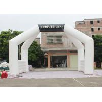 China White Custom Inflatable Arch Double Stitch Sewing For Event Advertising factory