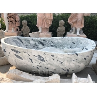 China natural Solid Stone Freestanding Bathtub Carrara Marble For Bath factory