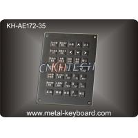 Anti - Vandal Black Stainless Steel Keyboard , Industrial Marine Keyboard