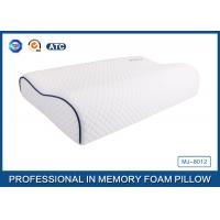 Buy cheap Customized Embroidery Logo Tencel Fabric Contour Memory Foam Pillow With Piping from Wholesalers