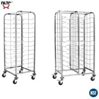 China Stainless Steel  Wire Shelf Trolley Designed for Cake Trays With Two Brakes on sale