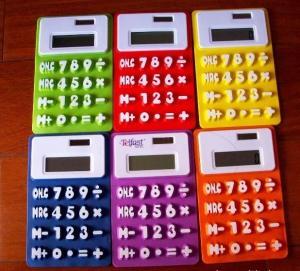 China Flexible Calculator, Rubber Calculator, Silicone Calculator factory