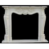 Buy cheap White marble flower carving of fireplace frame from Wholesalers