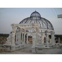 China Outdoor Garden Deco stone carving marble gazebo, china marble sculpture supplier factory