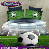 China Pure Polyester Football Design 3D Printing Duvet Cover Sets on sale