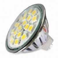 Buy cheap SMD 5050 High-power LED Spotlight Bulb with 3.5W Power, Made of Aluminum from Wholesalers