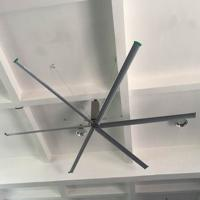 Buy cheap 1500W Nord Motor Large Industrial Ceiling Fan Church 16 inch hvls air cooling 50rpm from Wholesalers