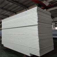 China white color sheet 0.326 insulated eps sandwich panel 11900x1150x75mm for office factory
