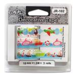 JR-102C Paper Lace Tape, Travel design, curve edge, multi colors