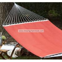 Buy cheap 2 Person Durable Outdoor Poolside Hammocks , Bright Red Double Hammock Free Standing from Wholesalers