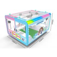 China 4 Players Toy Crane Machine , Colorful Light Transformation Candy Claw Machine factory