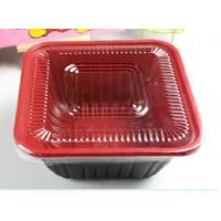 China Square Take Away Plastic Food Trays Black For Restaurant 800ml on sale