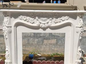 China Marble Fireplace Louise XIV French Surround Freestanding Fireproof Stone Carving factory