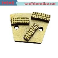 China Trapezoid Diamond Grinding shoes for concrete floor factory