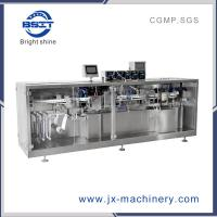 China Plastic Ampoule Bottle Forming and Filling and Sealing Machine linked with labeling machine for drink factory