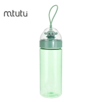 China 0.4L Cartoon Plastic Bottle , PC SILICON Trendy Water Bottle factory