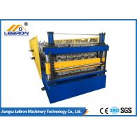 China New double layer roofing sheet roll forming machine 2018 new type PLC control automatic roll forming on sale