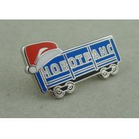 China Silver Hard Enamel Lapel Pin Brass Die Stamped Promotional Brooch Pin on sale
