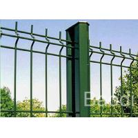 Buy cheap Green Vinyl Coated Wire Mesh Fence Boundary With Metal Post Simple Structure from Wholesalers