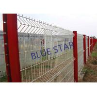 China Pvc Coated Welded Wire Mesh , Gal Curved Wire Mesh Fence Panels 0.5m - 3m Wdth on sale