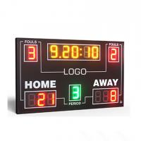 China IP65 Electronic Led Basketball Scoreboard With 8 Inch Digit In RGY Color factory