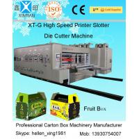 China Four Colours Flexo Printer Slotter Rotary Die Cutter with Stacker Machine factory