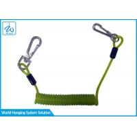 China Custom Made Security Retractable Steel Cable Coil Lanyard With Plastic PU Elastic factory