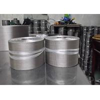 Buy cheap Silvery Flexible Aluminum Wire Mesh Belt For Plastic Extruder Industry from Wholesalers