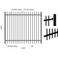 Buy cheap Low Carbon Steel HDG Falt To Garrison Fence Panels 1.8m*2.35m Rails from Wholesalers