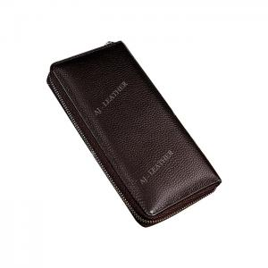 China Leather Hold Money 19cm Personalized Zipper Wallet factory