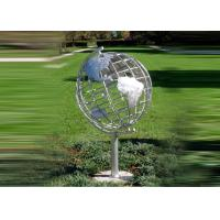Buy cheap Decorative Stainless Steel Sculpture With Semi - Meridian Globe Shape from Wholesalers