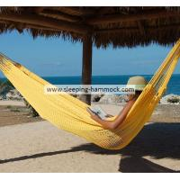 Buy cheap Portable Soft Woven Patio Yellow Jumbo Mayan Hammock For 2 Person Weather Resistant from Wholesalers