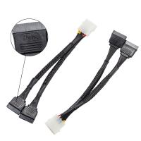 Buy cheap Zheino 2 Pack SSD Accessories , 4 Pin To Dual 15 Pin SATA Power Cable Splitter from Wholesalers