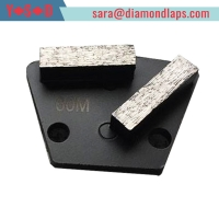 China Trapezoid Concrete Metal Bond Segments Grinding Scraper Pads for Concrete Floor Used for Diamatic Grinder factory