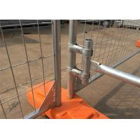 China Hot Dipped Galvanized 300gram/sqm 42 microns zinc layer thickness Temporary Fence Panels 2.1mx2.4m on sale