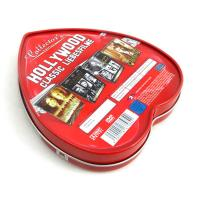 China Heart shape custom tin boxes with insert inside factory