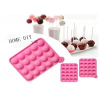 Quality 20 Holes Round Silica Lollipop Diy Baking Chocolate Cake Mold Anti - Aging for sale