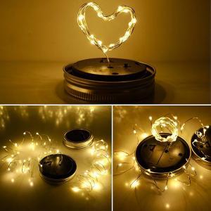 Buy cheap LED Fairy Light Solar Bottle Cap Light For Mason Jar Garden Christmas Lights Decorative Outdoor Wedding Decor from Wholesalers