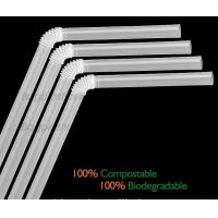 China Disposable Paper Straws Pure white Drinking Straws party straw, PLA plastic drinking straw factory