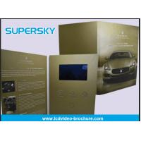 China Rechargeable LCD Video Brochure , Video In Print Brochure For Advertising factory