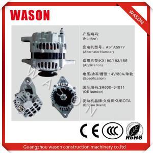 Buy cheap Kubota Engine A5TA5977 Excavator Alternator 3R600-64011 Kubota Tractor Alternator from Wholesalers