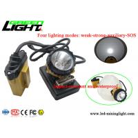 Buy cheap 25000lux Afety Wire Cap Led Mining Lamp , High Intensity Light Flashing Cap Light from Wholesalers