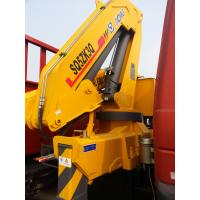 China Effective 5T Knuckle Boom Truck Mounted Crane Lifting For Landscape Jobs factory