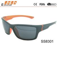 Classic cuting sports sunglasses with plastic frame ,UV 400 protection lens.