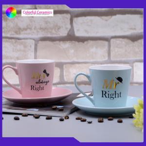 China Saucer Set Ceramic Cup And Saucer 200ml Tea Cup Customized Monogram Stonewarex Safe on sale