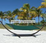 Buy cheap Extra Large Bow Green Caribbean Style Hammock Outdoor Portable , Heavy Duty Rope Hammock from Wholesalers